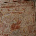 Detail der Kalkmalereien mit dem zwischen Petrus und Paulus thronenden Christus (c) Hans-Dieter Rammelt