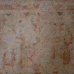 Detail der Kalkmalereien mit der Darstellung von Heiligen (c) Hans-Dieter Rammelt