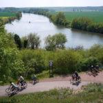 """Rastplatz auf der """"Loreley der Saale"""" am Saaleradweg zwischen Döblitz und Mücheln (c) Markus Händel"""