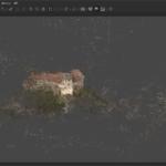 Das Bild 1 zeigt das Ergebnis nach dem Ausrichten und der Erzeugung einer einfachen Punktwolke aus fast 800 Fotos. (c) Johannes Grünemeier